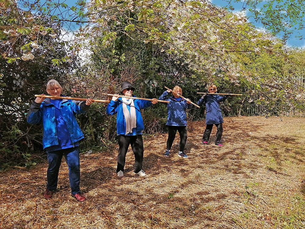 Killamarsh Tai Chi in the orchard